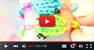 Відео. Як плести з резинок на рогатці