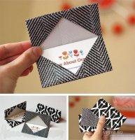 Як зробити простий конверт з паперу