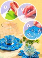 Підставка для чашки з пластику з квіточками