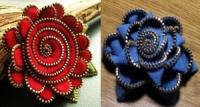 Як зробити квітку з блискавки від одягу своїми руками