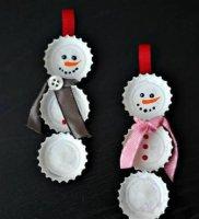 Новорічні іграшки на ялинку з підручних матеріалів