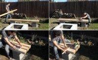 Як зробити лавку для саду своїми руками