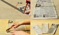 Як плести з газетних трубочок