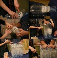 Як зробити пуф із платикових пляшок