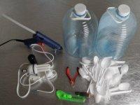 Як зробити люстру з пластикових ложок самому