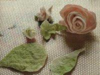 Квіти валянням з вовни, майстер клас