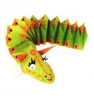 Як зробити іграшку з паперу своїми руками - самохідний дракон