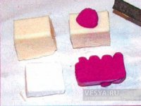 Сережки з полімерної глини з імітацією агату