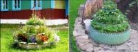 Як прикрасити дачну ділянку з підручних матеріалів - ФОТО