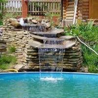 Як створити штучний водоспад на дачі своїми руками