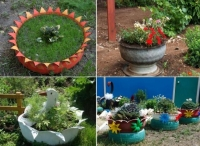 Вироби з шин для саду і городу своїми руками, майстер клас