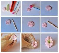 Як зробити букет квітів з полимерної глини