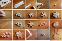 Як зробити сніжинку на вікно або ялинку з квілінгу своїми руками